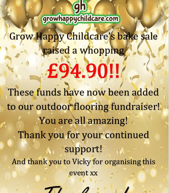 Grow Happy Childcare's Bake Sale Raised £94.90!!