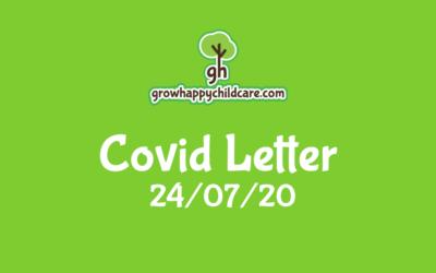 Covid Letter 24/07/20