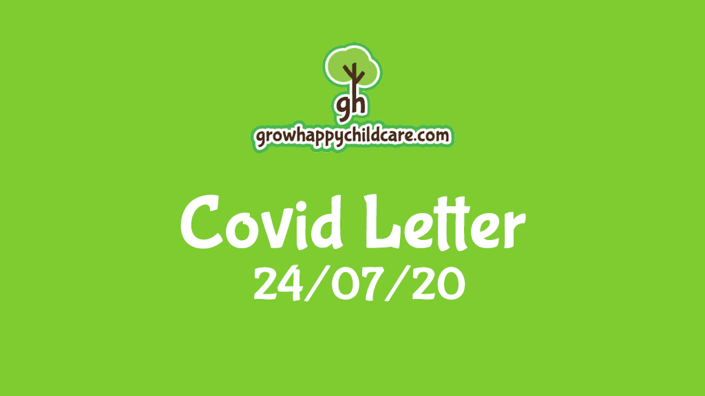 Covid Letter 24/07/20
