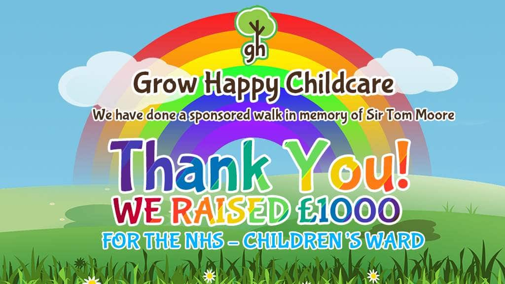 We raised a massive £1000 for the NHS – Children's ward!!!